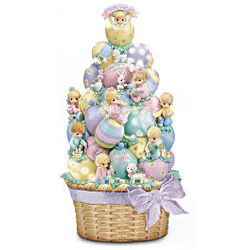 Precious Moments Easter Basket of Blessings Sculpture