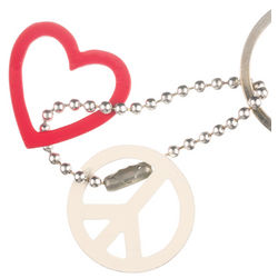 Love + Peace Key Ring