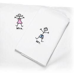 Mr. and Mrs. Pillowcase Set