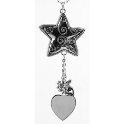 Engraved Star Ornament with Charms