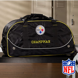 Personalized Pittsburgh Steelers Rolling Duffel Bag