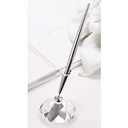 Glass Base Wedding Guest Book Pen
