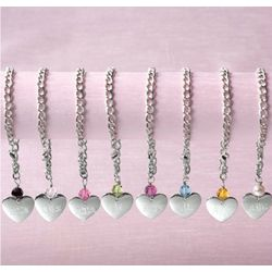 Personalized Pewter Heart Tag Bracelet