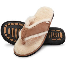 Gentlemen's Shearling Comfort Sandals