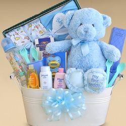 Welcome Home Little Boy Gift Bucket