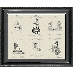 Mechanical Toy Banks Framed Patent Art
