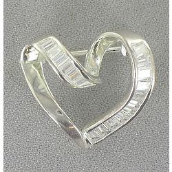 Cubic Zirconia Heart Pin
