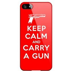 Keep Calm and Carry a Gun Slim Hard Case for iPhone 5