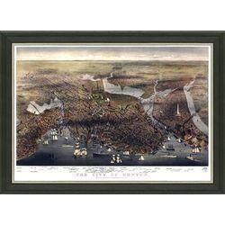 Framed Map of Vintage Boston