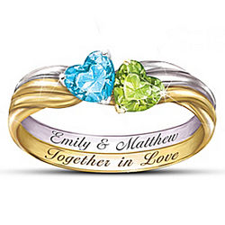 Personalized Together in Love Ring