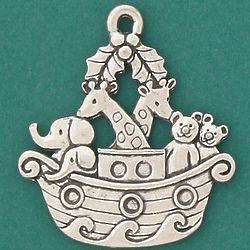 Noah's Ark Pewter Ornament