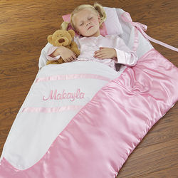 Girl's Personalized Ballerina Slipper Sleeping Bag