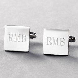 Berkley Monogrammed Square Cufflinks