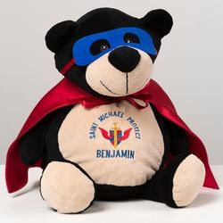 Saint Michael Personalized Superhero Bear Buddy