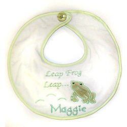 Personalized Froggy Bib