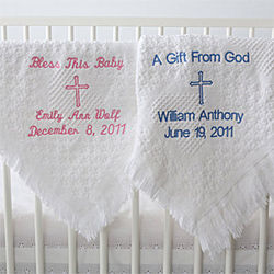 Baptism Blessings Personalized Blanket