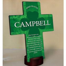 Personalized Irish Blessing Shamrock Cross