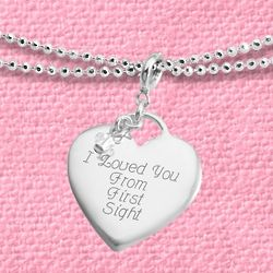 "First Chapter Heart Charm 40"" Necklace"