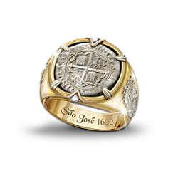 The Sao Jose Shipwreck 8 Reales Coin Men's Ring