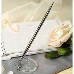 Personalized Pen & Optical Crystal Base
