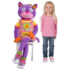 """Learn to Dress"" Giant Plush Kitty"