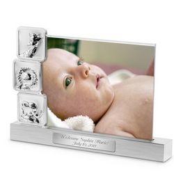 Animal Blocks Floating Baby Photo Frame