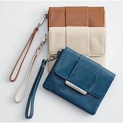 Handcrafted Leather Wristlet