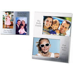 Personalized Silver Double Photo Frame