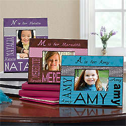 Personalized Kid's Her Name Alphabet Frame