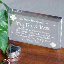 Made You Glad Irish Blessing Plaque