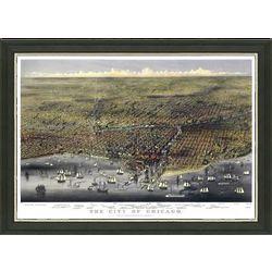 Framed Vintage Map of Chicago