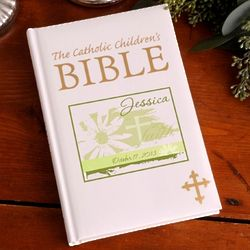 Personalized Divine Daisy Catholic Children's Bible