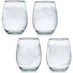 Peacock Stemless Wine Glasses