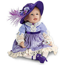 Isabella Doll in Victorian Outfit with Tea Set