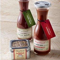 Steak Sauce and Rub Gift Basket