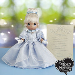 Precious Moments Cinderella Doll with Personalized Letter