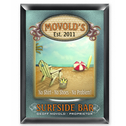 Personalized Surfside Bar Sign