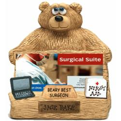Personalized Bear Business Card Holder for Surgeon