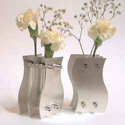 Interlocking Sterling Silver Vases