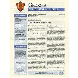 Georgia Employment Law Letter Magazine