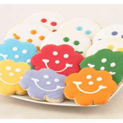 A Dozen Smiles Cookie Bouquet Combo