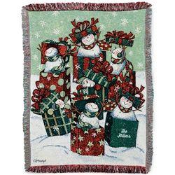 Snow Family Throw Blanket
