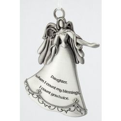 Engravable Daughter Blessings Pewter Ornament