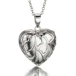 Sterling Silver Heart Locket and Chain Necklace