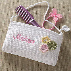 Girl's Personalized Flower Purse