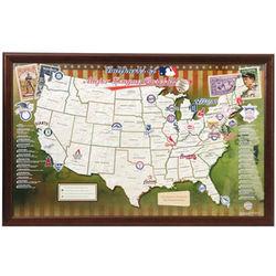 Personalized Baseball Ballpark Map