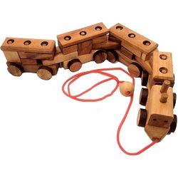 Construction Train 3D Wooden Puzzle
