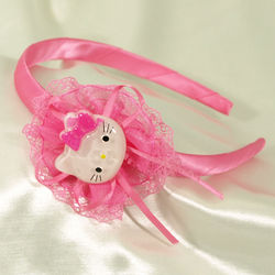 Toddler Girl's Kitty with Lace and Ribbons Headband