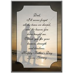 Thank You Dad Personalized Desk Plaque