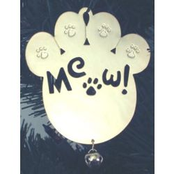 Engravable Kitty Paw Ornament
